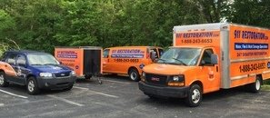 Sewage Backup Cleanup Vehicles